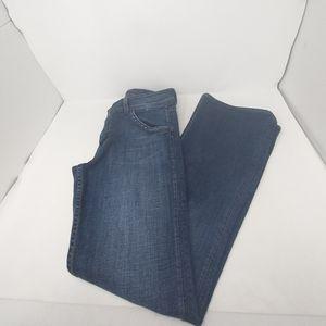 Hudson Dark Fade Wash Button Pocket Flare Jeans